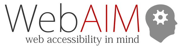WebAIM - Web Accessibility in Mind